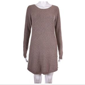 LOFT Tan Long Sleeve Sweater Dress Size M